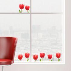 Crearreda dekorativna nalepka za okno, tulipani
