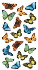 Crearreda stenska dekorativna nalepka, barviti metulji (59455)