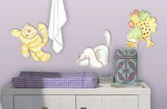 Crearreda Otroška stenska dekorativna nalepka, živali, 3D M