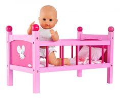Woody posteljica za punčke Trendy, roza