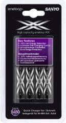 Sanyo polnilec baterij MQR06-E + 4x AA XX eneloop Ni-MH min. 2450mAh