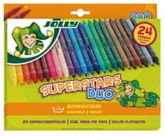 Jolly Flomastri Superstar Duo 24/1, kartonska embalaža