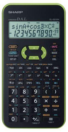 Sharp Tehnični kalkulator EL-531XHGRC, zelen