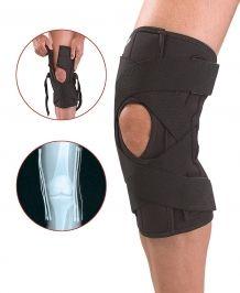 Mueller kolenska opornica z bandažo Deluxe (230), črna, S