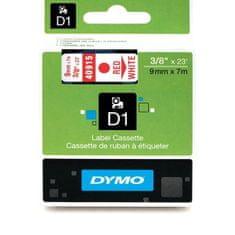 Dymo Trak za tiskanje nalepk D1, širina 9mm/7m, bel/rdeča 40915