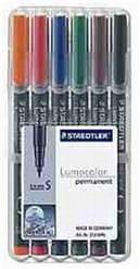 Staedtler Permanentni flomaster Lumocolor S 313/6, set 6