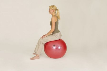 Sissel Žoga Securemax Exercise Ball, 55 cm Rdeča