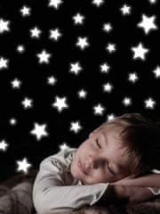 Crearreda Svetleča stenska dekorativna nalepka, zvezde 77223