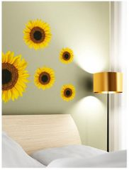 Crearreda stenska dekorativna nalepka, sončnice (54106)