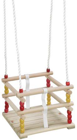 Hudora leseni otroški stolček za gugalnico