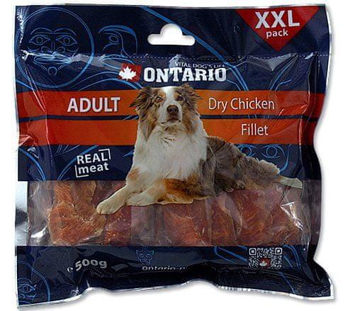 Ontario przekąska dla psa Snack Dry Chicken Jerky - 500g