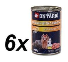 Ontario konzerva kuracie, karotka a lososový olej 6 x 400g