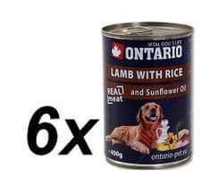 Ontario konzerva jahňacie, ryža a slnečnicový olej 6 x 400g