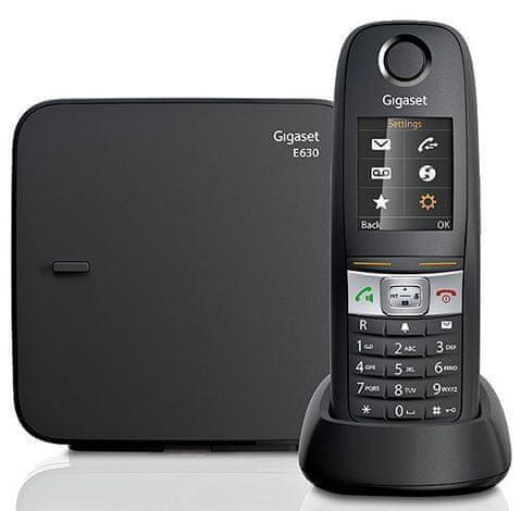 Gigaset E630 brezvrvični telefon, črn