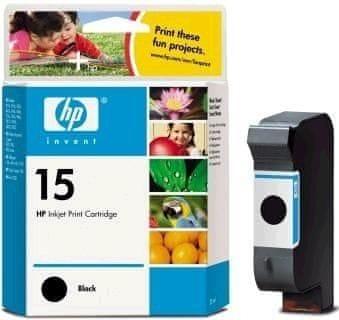 HP č.15 Velká černá originální inkoustová kazeta (C6615DE)