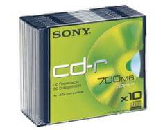 Sony CD-R medij 700MB 48x (10CDQ80SS), 10 kos