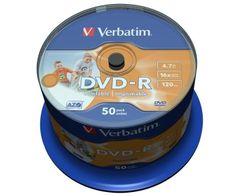 Verbatim DVD-R mediji 4,7GB 16x InkJet, 50 na osi