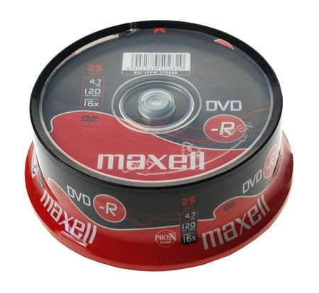 Maxell DVD-R medij 4,7GB 16X 25 na osi