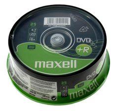 Maxell DVD+R medij 4,7GB 16X 25 na osi