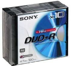 Sony DVD+R medij 10DPR120BSL 4,7GB 16x 10 kos