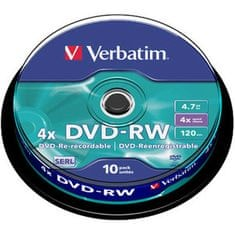 Verbatim DVD-RW 4.7GB 4x Rewritable 10-pack