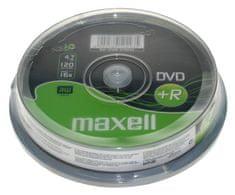 Maxell DVD+R medij 16X, 4,7 GB, 10 na osi