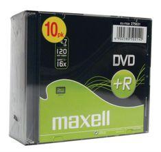 Maxell DVD+R medij 16X, 4,7 GB, 10 kos, 5 mm