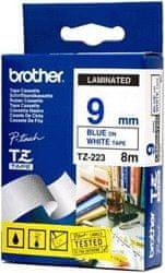 Brother Trak Brother Tz223, bel/moder, 9 mm