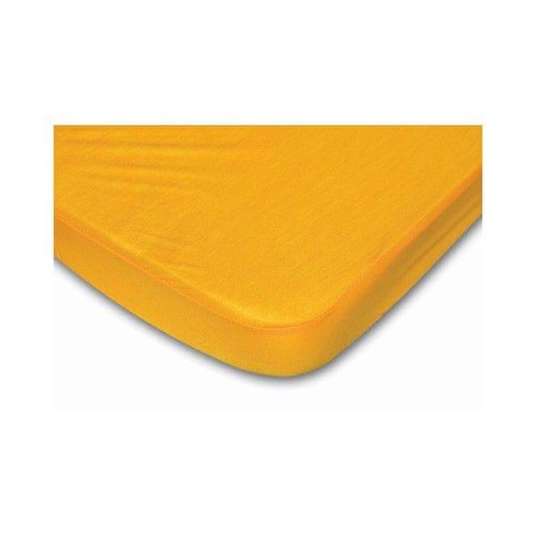 B-sensible Prostěradlo a chránič tencel 70 x 140 cm, žlutá