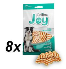Calibra Joy Dog Dental Chicken Waves jutalomfalat, 8 x 80 g