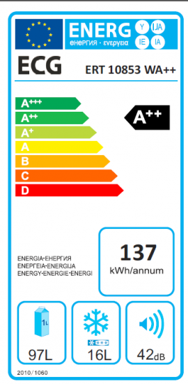 ECG ERT 10853 WA++ Hűtőszekrény