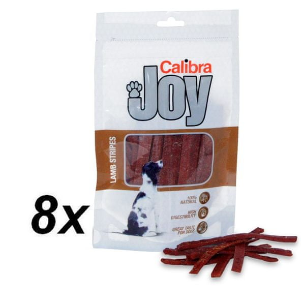Calibra Joy Dog Lamb Stripes 8 x 80g