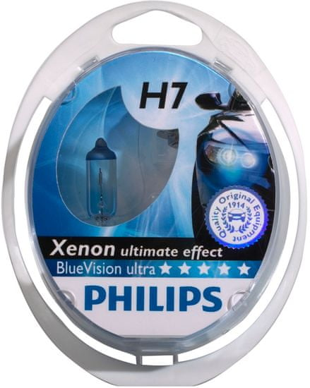 Philips žarnica BlueVision Ultra H7 (par)