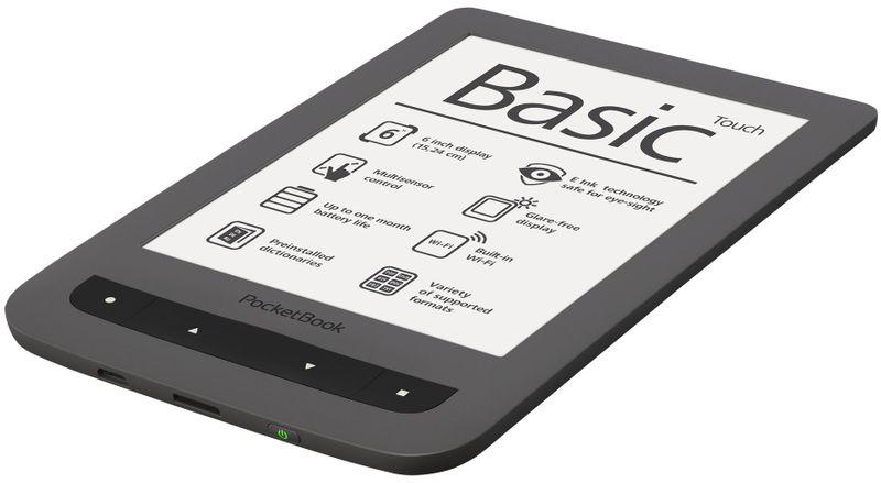 PocketBook Basic Touch (624) šedý - II. jakost