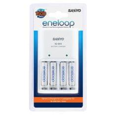 Sanyo polnilec baterij Eneloop MQN04 + 4x AAA baterije