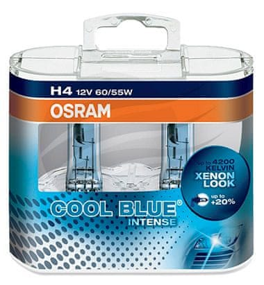 Osram 12V H4 60/55W P43t 2ks Cool Blue Xenon Effect