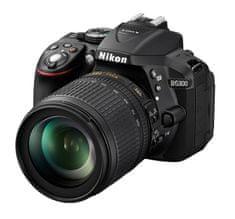 Nikon digitalni fotoaparat D5300 + 18-105 VR, črn