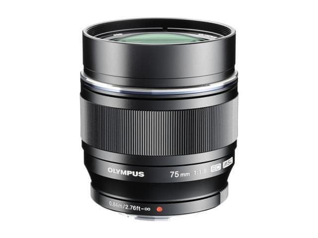 Olympus 75 mm M.Zuiko Digital f/1,8 Black