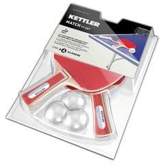 Kettler Set loparjev za namizni tenis Match z žogicami