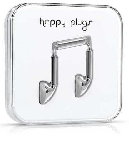 Happy Plugs Earbud Deluxe Edition (Silver)
