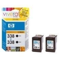HP 338 dvojbalení černé originální inkoustové kazety (CB331EE)
