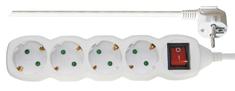 Emos podaljšek 3 m, 4 vtičnice, stikalo (P1423)