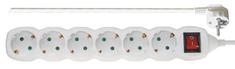Emos podaljšek 3 m, 6 vtičnic, stikalo (P1623)