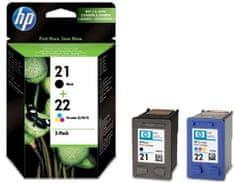 HP komplet dviju tinta 21, crna i 22, u više boja