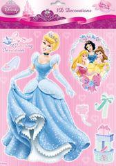 Disney Stenska dekoracija Princeska, sveti, 27 x 24 cm