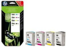 HP č.940XL čtyřbalení originálních inkoustových kazet s vysokou výtěžností (C2N93AE)