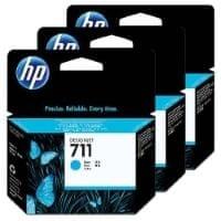 HP komplet treh kartuš Designjet 711, cyan (CZ134A)