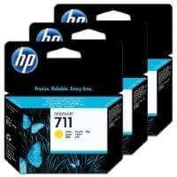 HP komplet kartuš #711 rumena (CZ136A)