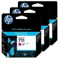 HP komplet treh kartuš Designjet 711, magenta (CZ135A)