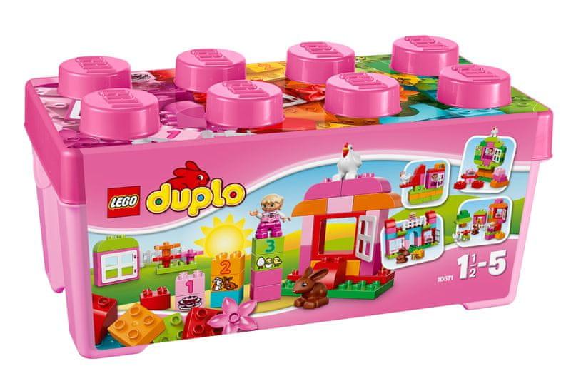 LEGO® DUPLO Kostičky 10571 Růžový box plný zábavy